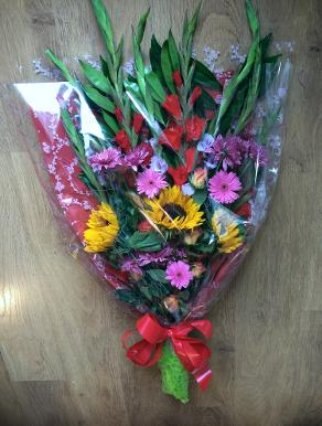 Flowers arranged to order in your choice of flowers